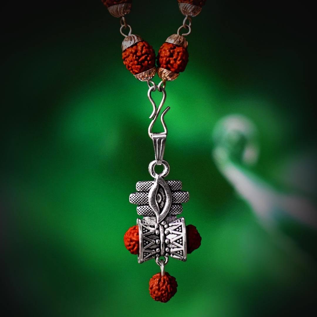 Buy Lord Shiva Third Eye Rudraksha Silver Capped Locket Online