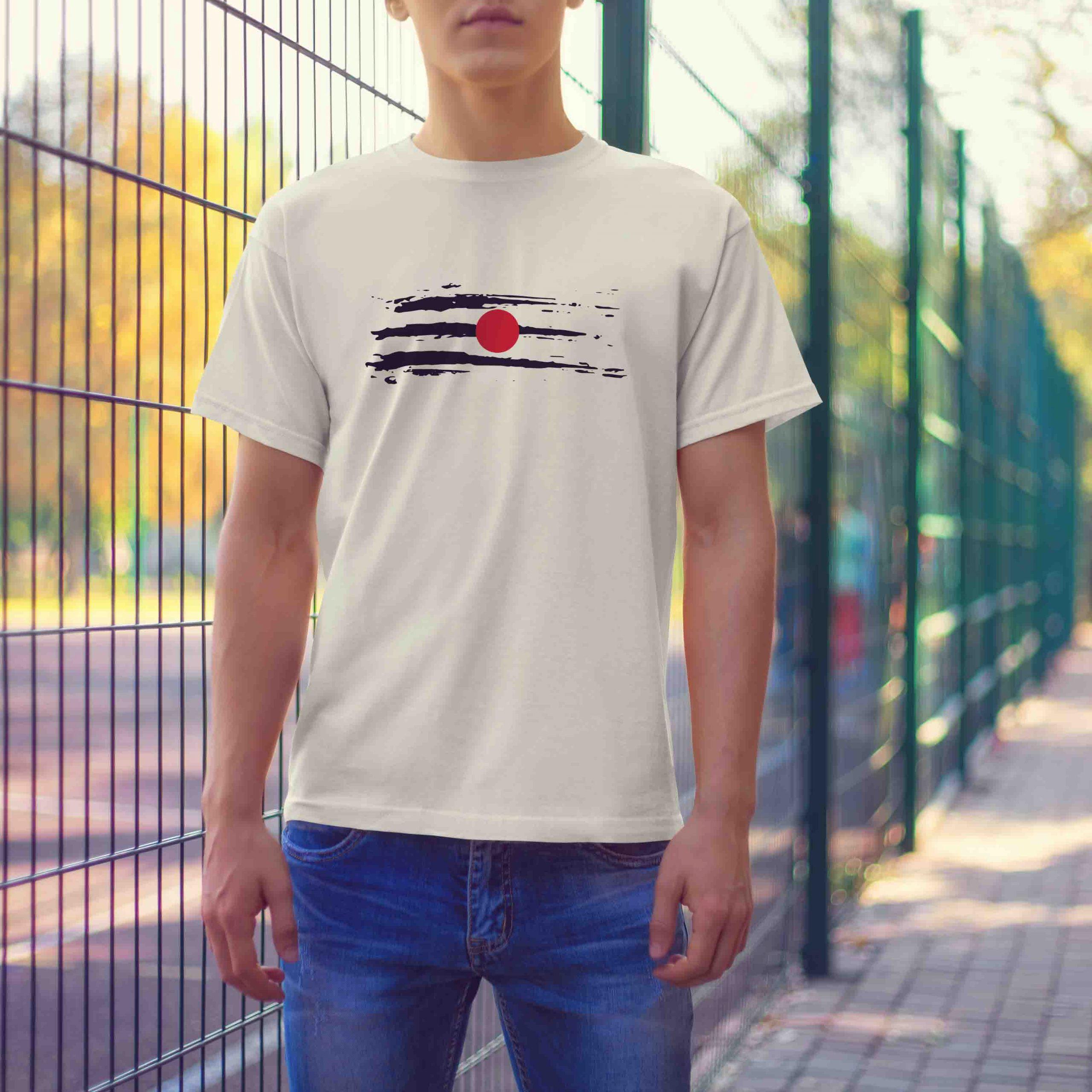 Mahadev Tilak white t shirt for men