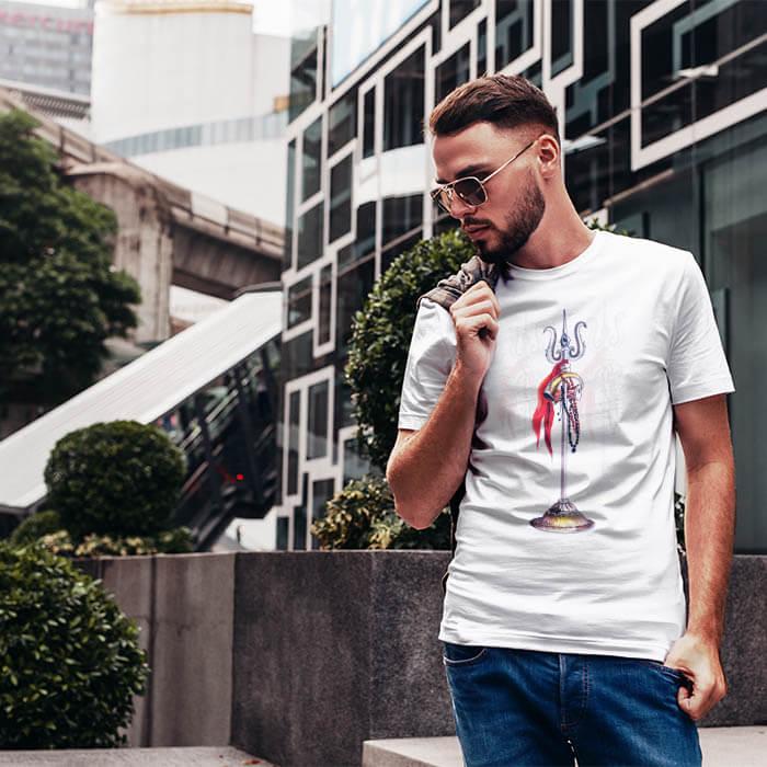 Mahadev Trishul round neck t shirt for men