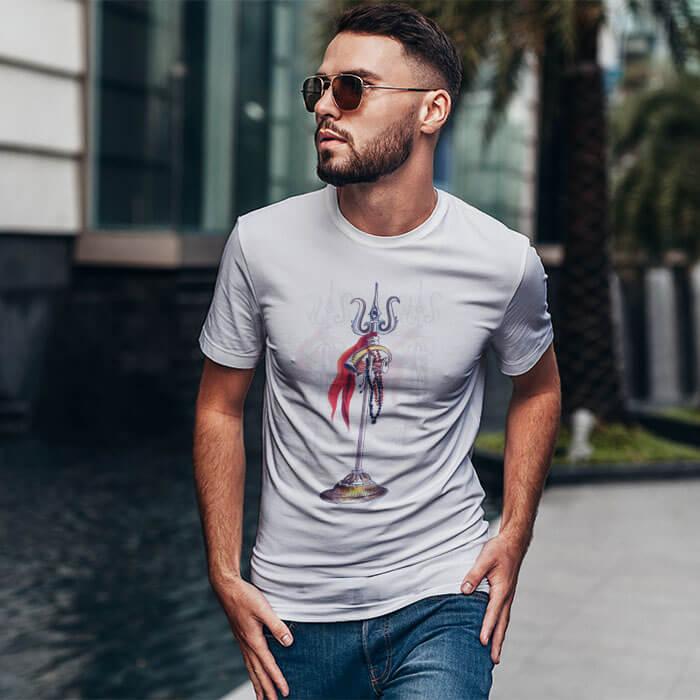 Mahadev Trishul t shirt for men