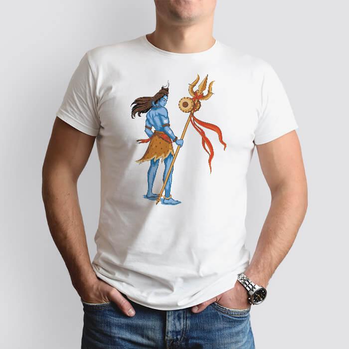 Mahadev with trishul Damru t-shirt for men