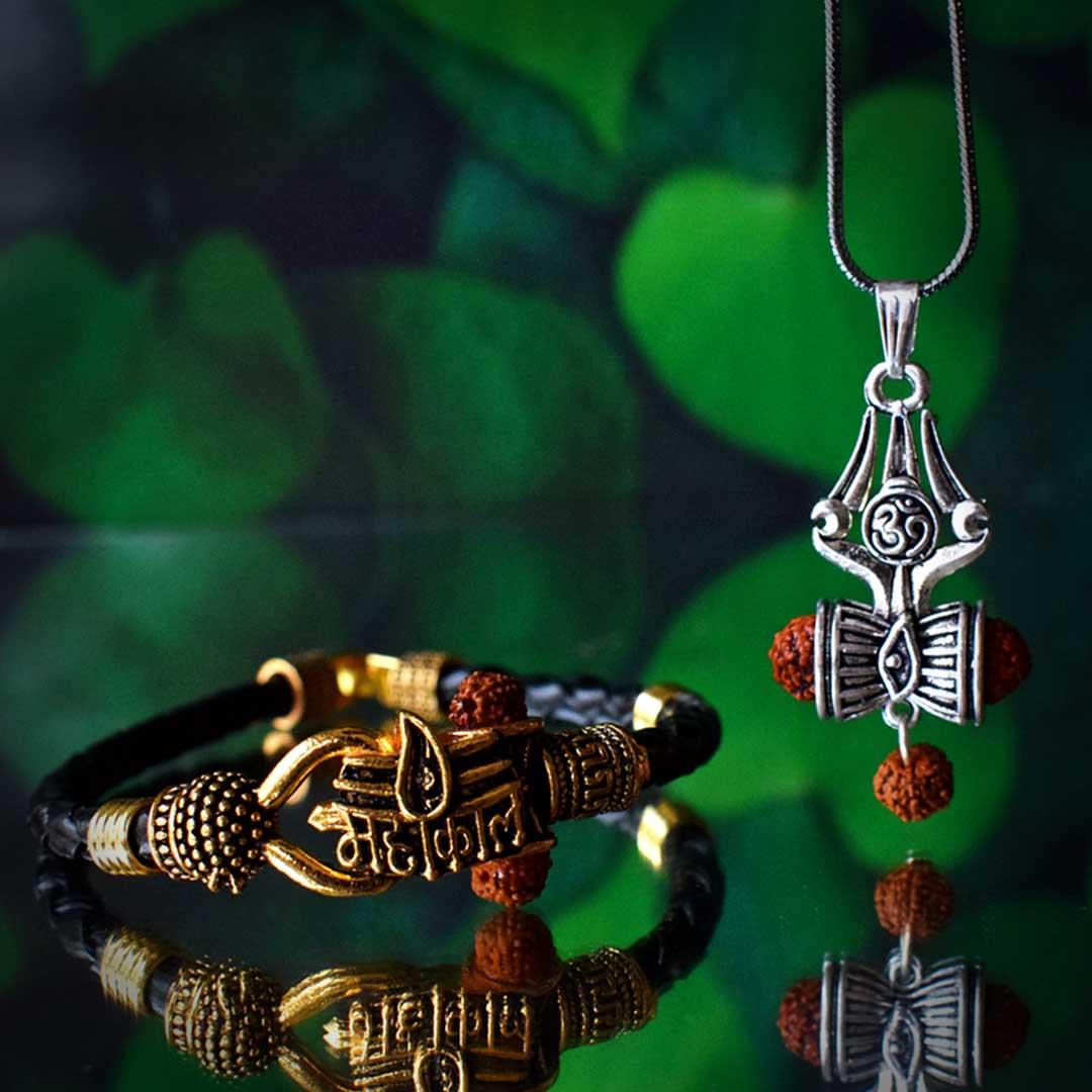 Buy Mahakaal Bracelet With Om Shiva Trishul Locket