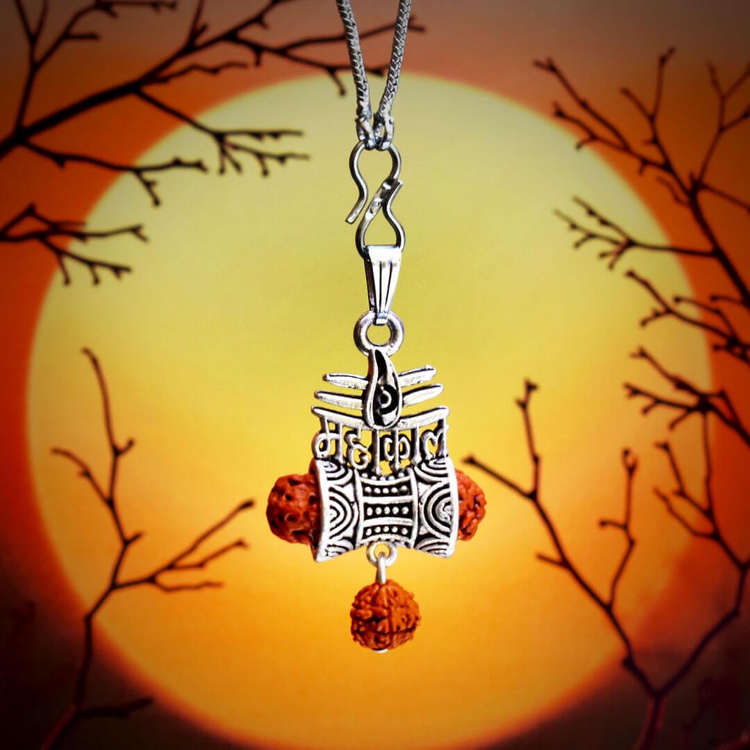 Mahakal Silver Locket With Chain 2nd