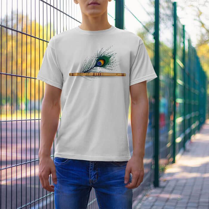 Murli with Mor Pankh t-shirt for men