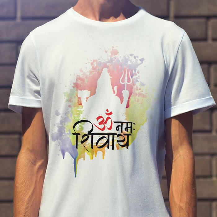 OM Namah Shivay Mantra With Shiva men t-shirt