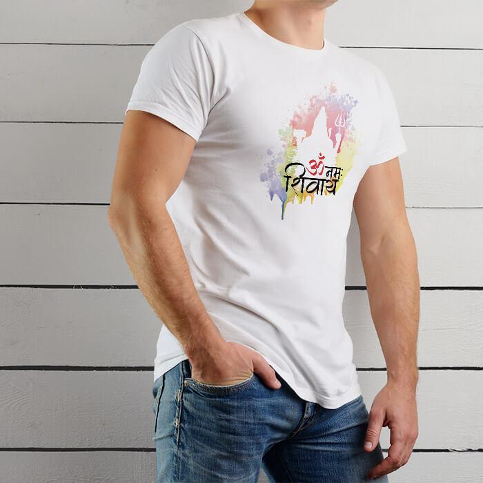OM Namah Shivay Mantra With Shiva t shirt for men