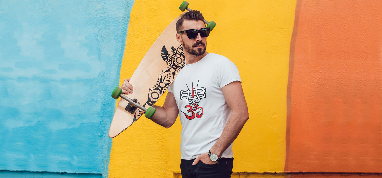 OM Trishul With Shivling Printed T Shirt