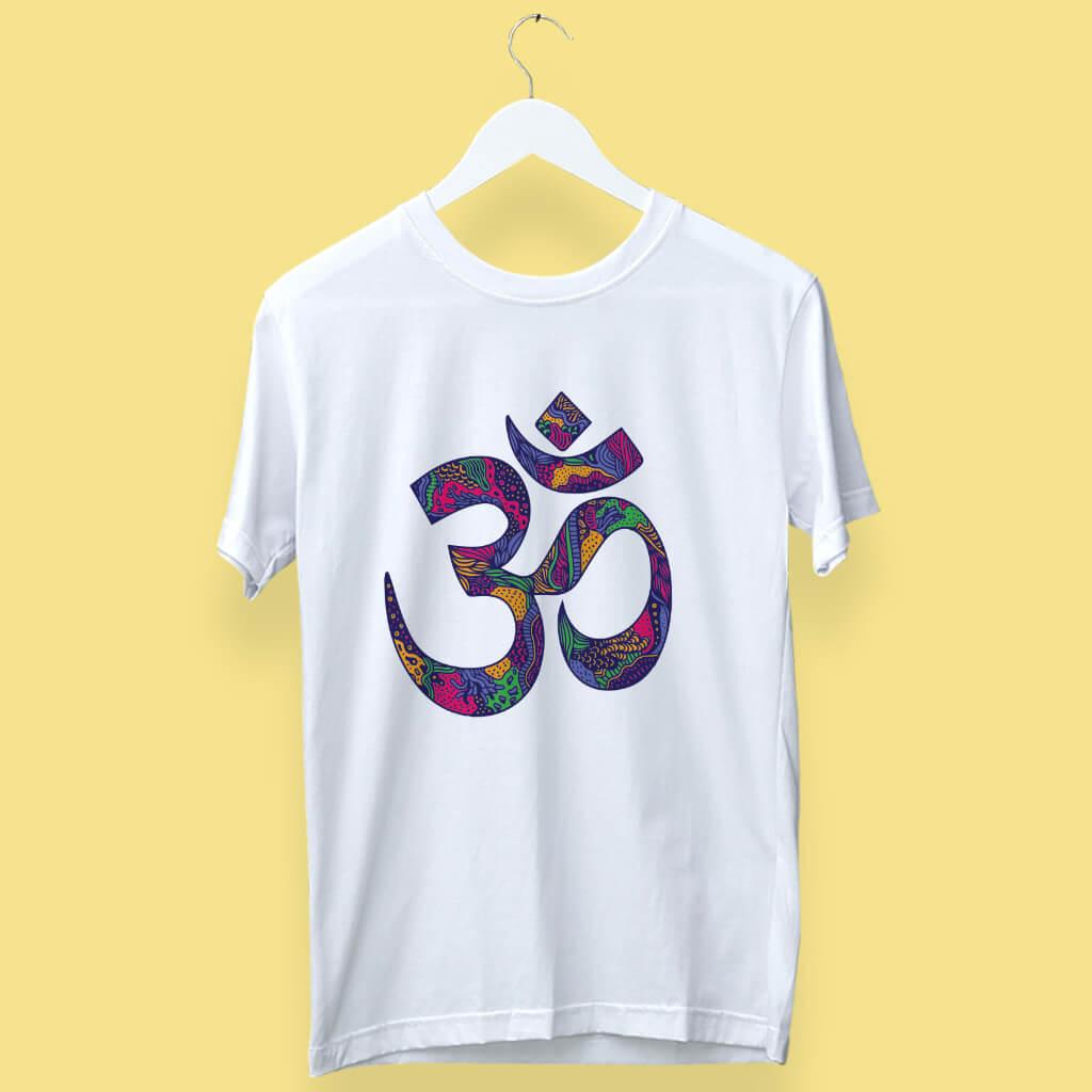 Street Art Style Om(ॐ)  Printed T-Shirt