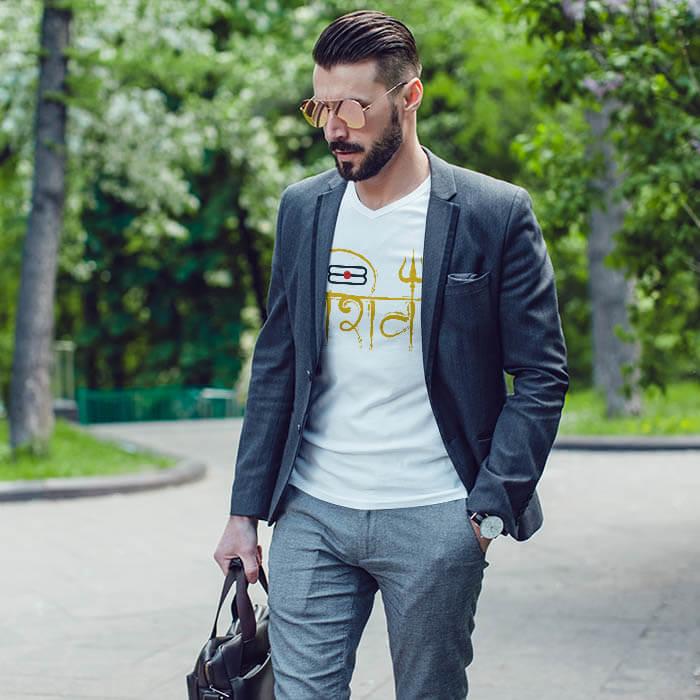 Shiv Tilak t shirt for men
