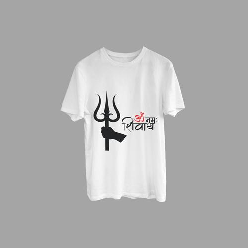 Trishul Om Namah Shivaya(ॐ नमः शिवाय) Printed T-Shirt