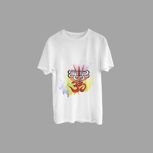 Mahakal Tilak with Om Printed T-Shirt