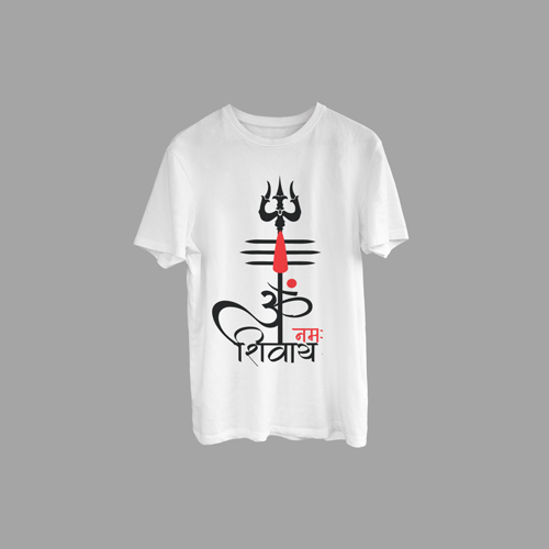 Classic Tilak & Trishul with Om Printed T-Shirt