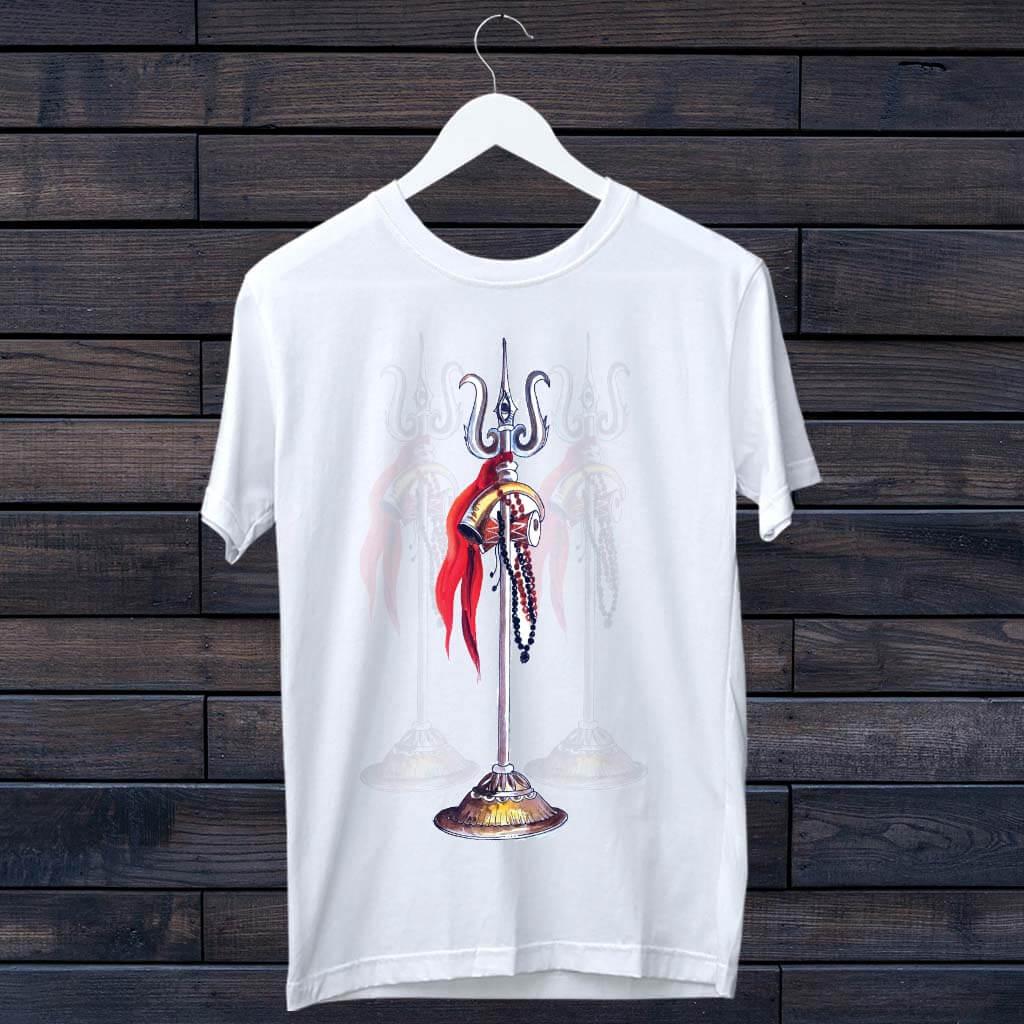 Mahadev Trishul Printed T-Shirt