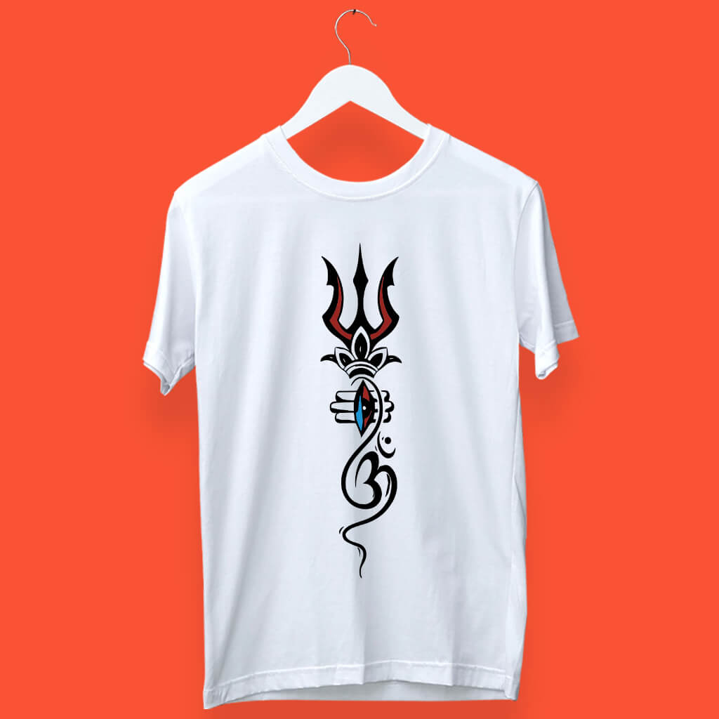 Mahakal Street Style HD Trishul Printed T-Shirt