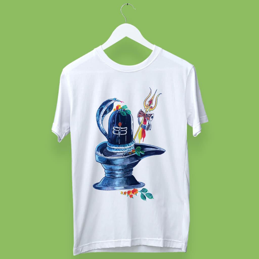 Classic Shivling Sketch  Printed T-Shirt