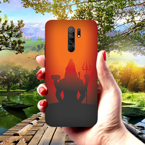 Mahadev Shadow in Sunset Phone Cover for Redmi 9 Prime