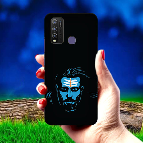Mahadev Blue Mobile Phone Cover for Vivo Y50