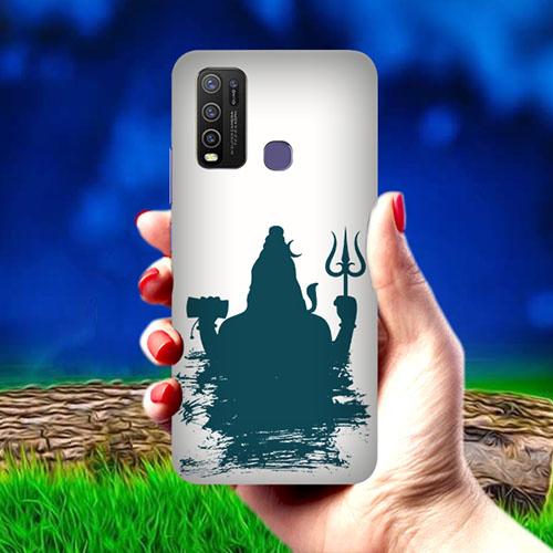 Mahadev Blue Shadow Mobile Phone Cover for Vivo Y50