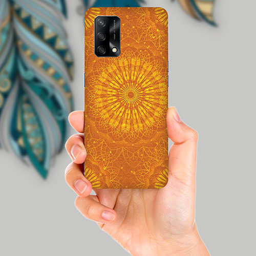 Patten Yellow Mobile Back Cover for OPPO F19
