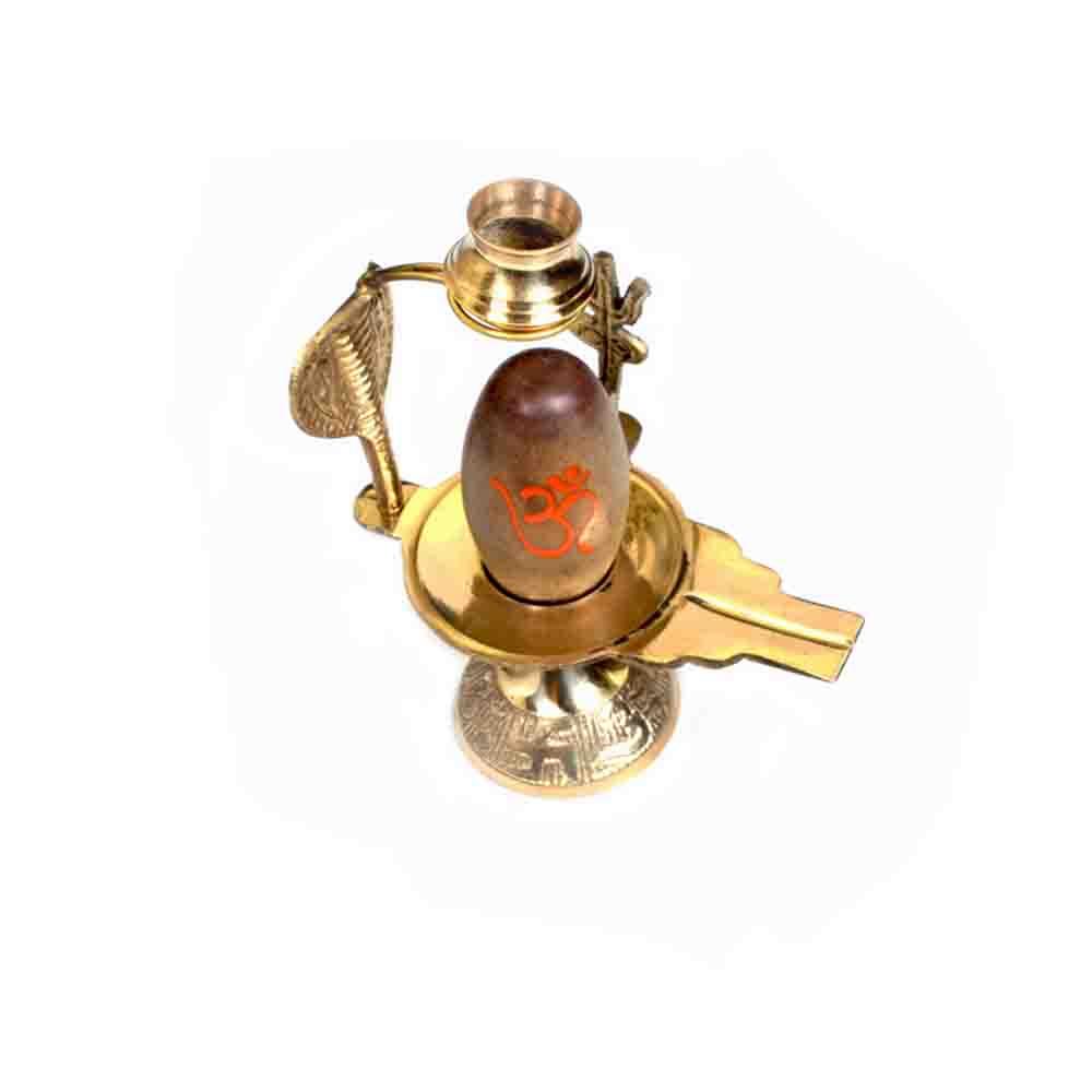 Narmadeshwar Shivling Brass Trishul Kalash