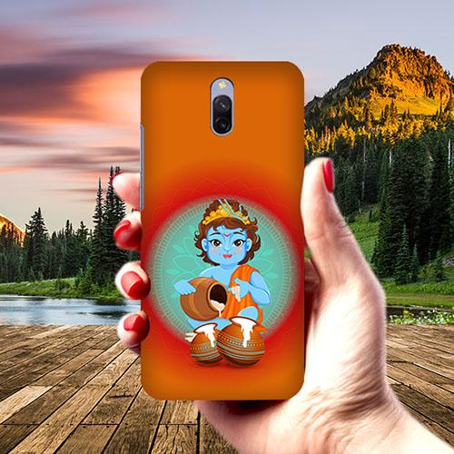 Kisna Makhanchor Orange Phone Cover for Xiaomi Redmi 8A Dual