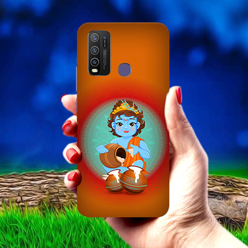Krishna makhanchor Orange Mobile Phone Cover for Vivo Y50
