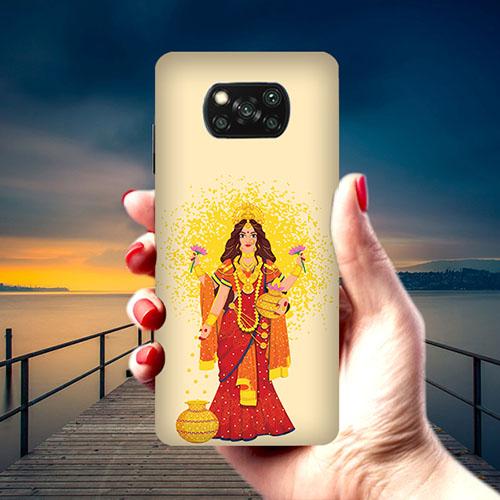 Maa Laxmi Phone Cover for Xiaomi Poco X3