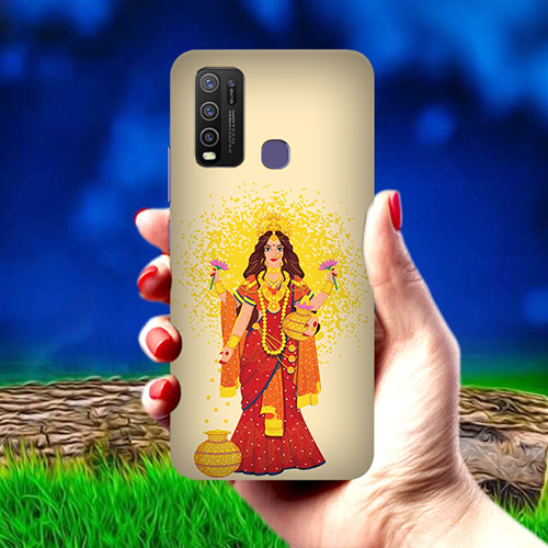 Maa Laxmi Mobile Phone Cover for Vivo Y50
