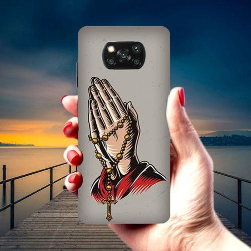 Cross Prayer Phone Cover for Xiaomi Poco X3