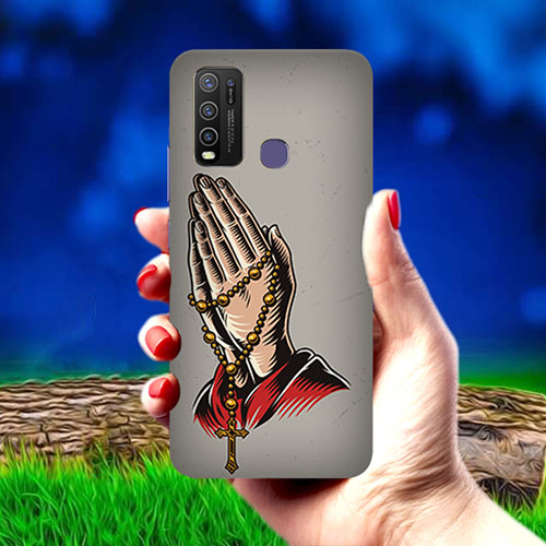 Cross Prayer Mobile Phone Cover for Vivo Y50