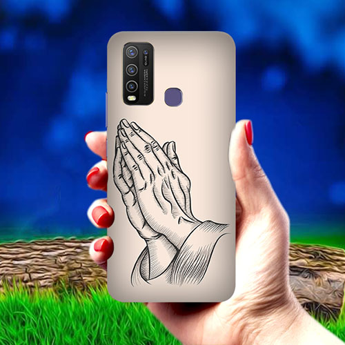 Prayer Sketch Mobile Phone Cover for Vivo Y50