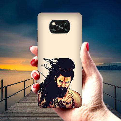 Bearded Mahadev Phone Cover for Xiaomi Poco X3