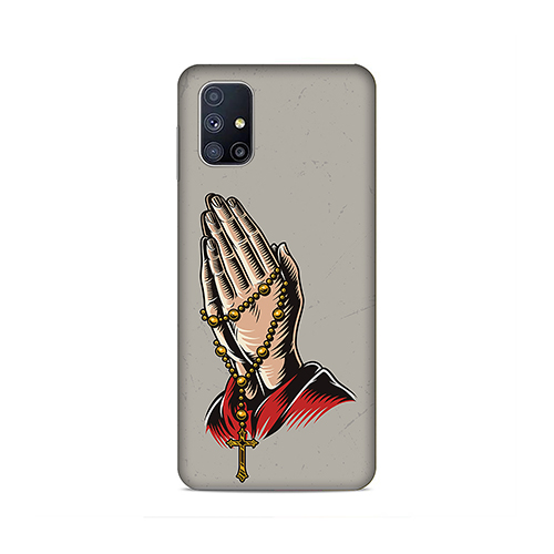 Cross Prayer Phone Cover for Samsung M51