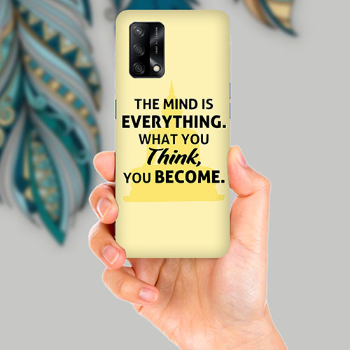 What You Think Mobile Back Cover for OPPO F19