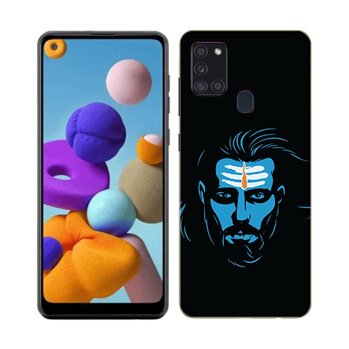 Mahadev Blue Phone Cover for Samsung A21s