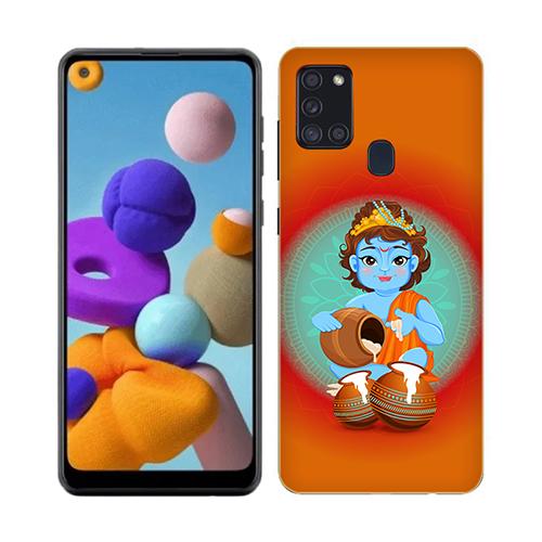 Kisna Makhanchor Orange Phone Cover for Samsung A21s