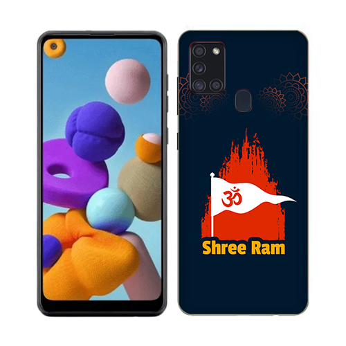 Shri Ram Dhvaj Phone Cover for Samsung A21s