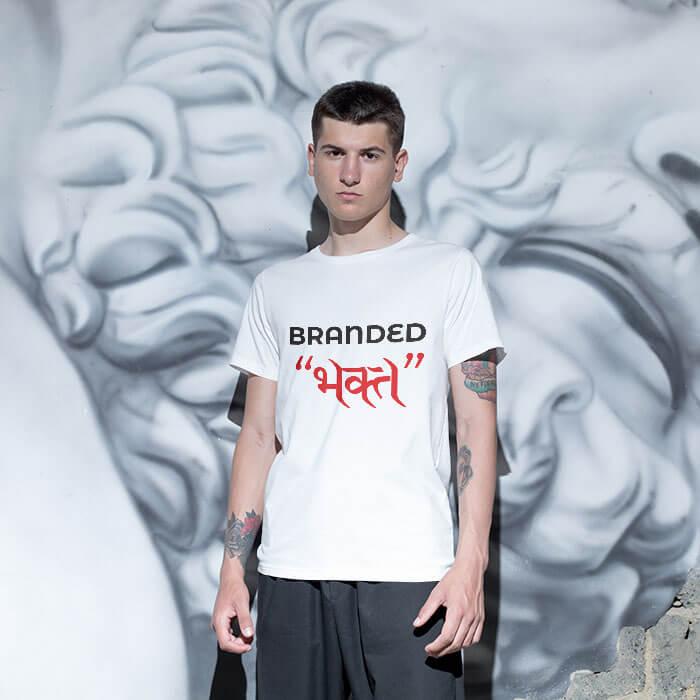 Branded Bhakt t shirt for men online