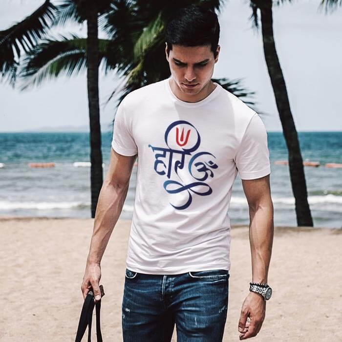 Hari Om round neck t shirt for men