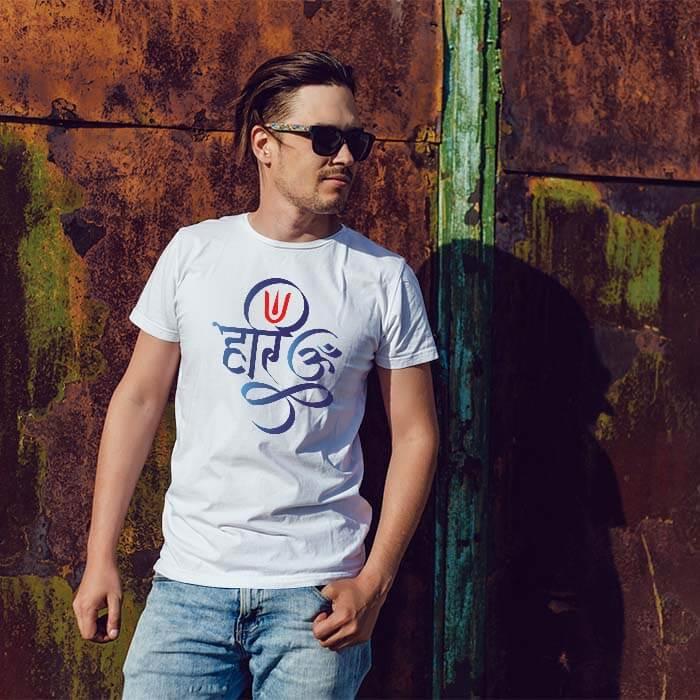 Hari Om t shirt for men