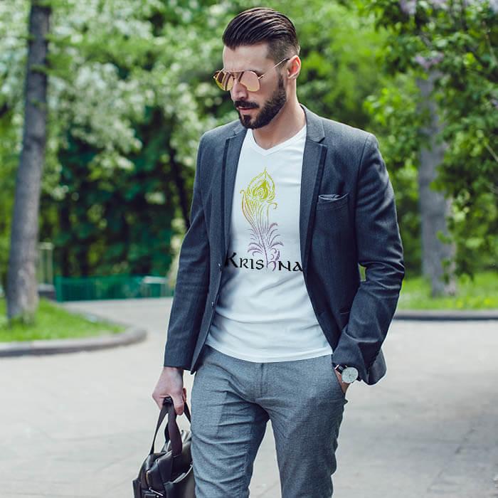 Krishna Morpankh men t-shirt