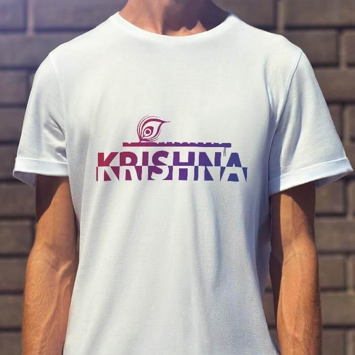 Krishna Murali round neck t shirt for men
