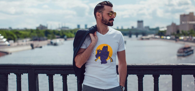 Krishna Shadow Unique Designed T Shirt