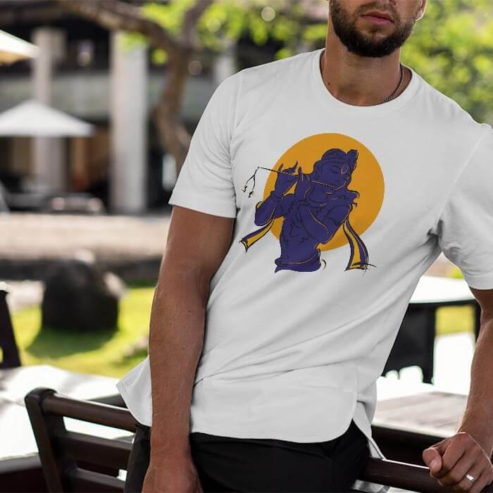 Krishna Shadow round neck t shirt for men