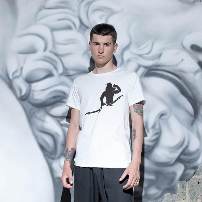 Lord Ram Black Sketch men t-shirt