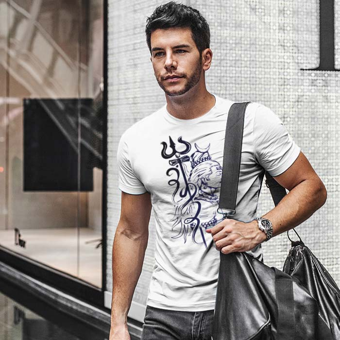 Lord Shiva with Trishul t-shirt for men