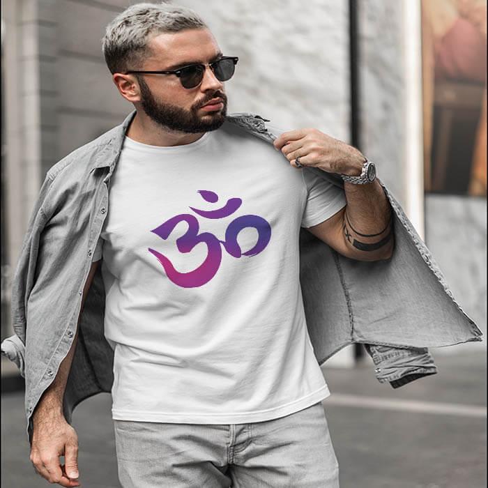 OM white t shirt for men