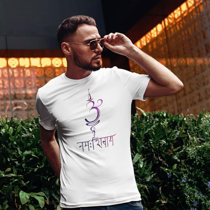 Om Namah Shivay Design men t-shirt