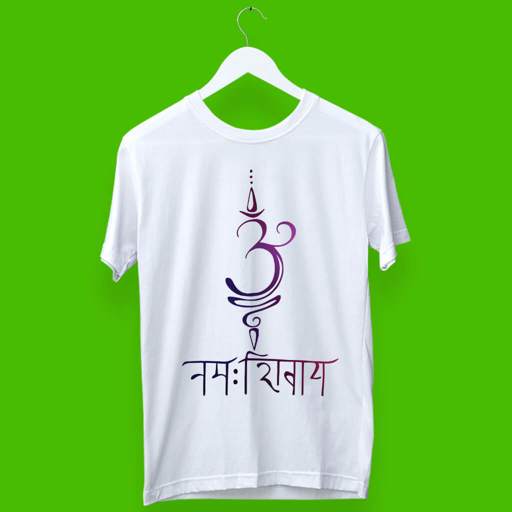 Buy Divine Om Namah Shivaya (ओम नमः शिवाय) Religious Printed T-Shirt | Prabhu Bhakti
