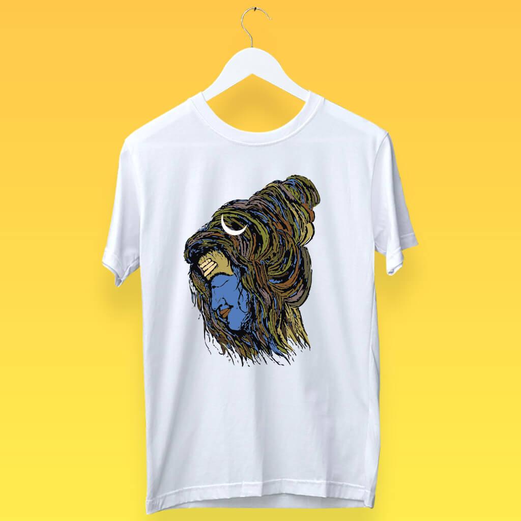 Shiva Dreadlock Stylish Design Printed T-Shirt | Prabhu Bhakti